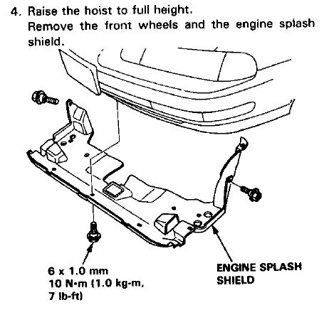 Splash Shield Part Diagram
